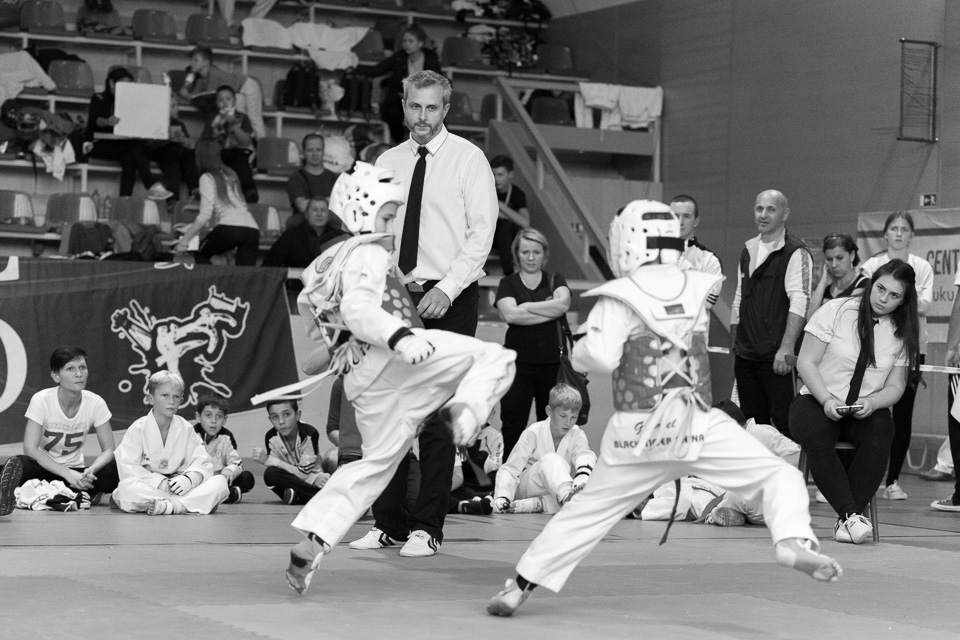 Turnaj juniorov v bojovom umeni Taekwondo na domacej pode tímu Black Tiger zo Sniny