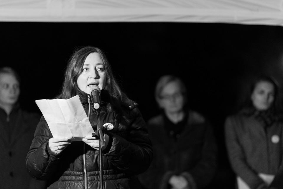 Piatkový pochod za slusne Slovensko v Humennom, ktory sa uskutocnil 23. marca 2018 #allforjan
