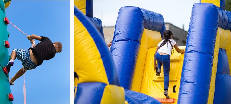 Velka zabava a santenie deti na konci skolskeho roka